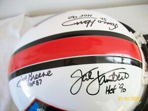 NFL HOF full size Riddell helmet signed by 5 Steelers Harris, Green, Hamm