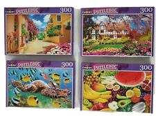 NEW Lot of4 CraZArt 300 Pc PUZZLEBUG Colorful turtle,Kefalonia Greece,Netherland