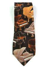D'em Crazy Brand Necktie  Piano Themed
