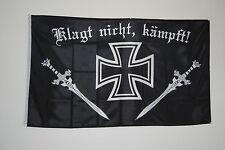Bandiera bandiera 1779 Reich bandiera Deutsches Reich lamenta non combatte EK + spada