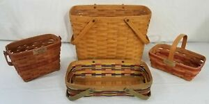 Longaberger Handwoven Baskets--Lot of 4 (Dresden, Ohio U.S.A.)