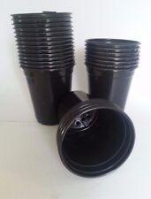 Set of 50 - Quart Round Black Nursery Pots Plastic plants pot flower Perennial