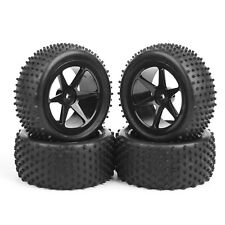 Set 4Pcs Rubber Front Rear Tires&Wheel Rim For RC 1:10 Buggy Off-Road Car B04
