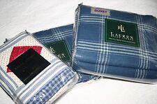 Ralph Lauren AMERICANA PLAID Full DUVET COVER, Bedskirt & Standard SHAMS 4 PC