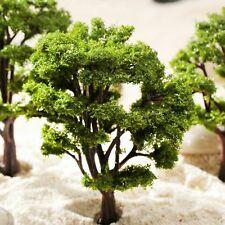 10pcs One Set Tree Model HO N Scale Wargame Train Railway Scenery Layout Decor