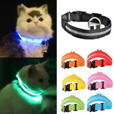 LED Cat Collar Rechargeable Light Up Neck Safety Pet Kitten Flashing Adjustable