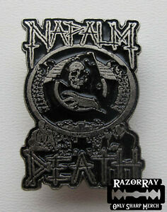 NAPALM DEATH - Metal Pin / Carcass Nasum Pig Destroyer Misery Index Lock Up