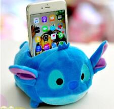 Disney TSUM TSUM Stitch blue plush phone holder storage stand seat soft cute new
