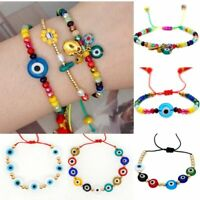 Lucky Evil Eye Beaded Bracelet Handmade Red Rope Adjustable Bangle Jewelry Gifts