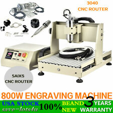5 Axis 3040 Cnc Router Engraver Drilling Milling Wood Machine Cutter 800w Vfd Us