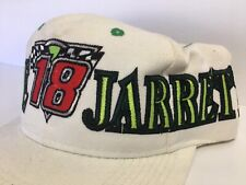 Dale Jarrett #18  Checkered Flag NASCAR Cap Hat White 1992 Interstate Batteries