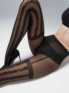 Wolford Ruth Tights Stockings Stripes With Strumpfhalteroptik