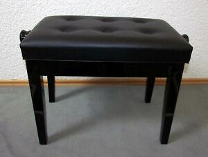 Klavier Bank - regelbare Piano Hocker (schwarze Farbe)