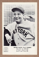 1963 Hall Of Fame picture pack Lou Gehrig New York Yankees 5x7