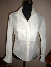 JUICY COUTURE white TOP BLOUSE BUTTON DOWN SHIRT CAREER M