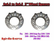 "2003 - 2008 Dodge Ram 2500 3500 8 x 6.5 to 8x6.5 TWO Wheel Spacers 2"" Inch"