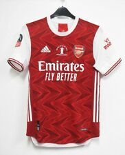 Arsenal 2020/2021 Fa Cup Final Jersey Aubameyang Pepe Saka Tierney Sizes S-3XL
