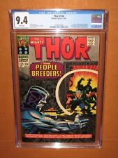Thor #134 CGC 9.4 WHITE pages! A CGC TOP 25 copy! 12 HD pix Ships FULLY INSURED!
