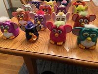 McDonald's Furby 1998 Lot of 16, Plastic  Assorted Colors Furbies