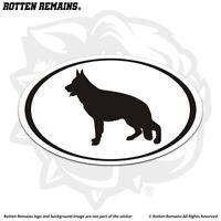 German Shepherd Dog Oval Decal Sticker Euro K-9 K9 Police Dogs Vinyl feb