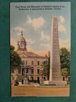 1942 Augusta Georgia Vintage Postcard Court House Monument