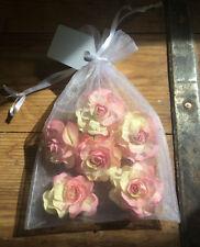 Pink Paper Roses 4cm
