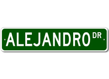 ALEJANDRO Street Sign - Personalized Last Name Sign