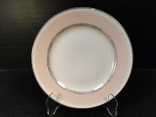 "Homer Laughlin Eggshell Georgian Pink Salad Plate 8 1/4"" G3348 Wheat Laurel"