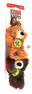 2 Count Kong Wild Knots Squeaks X-Small Bear Internal Knotted Rope Dog Toy