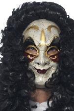 VENEZIANO Dieb Maschera con capelli NUOVO - CARNEVALE MASCHERA VOLTI