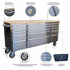 """300 US PRO TOOL CHEST BOX BENCH STAINLESS STEEL 72"""" FINANCE AVAILABLE!"""