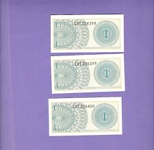 Indonesia Consecutive 1964 1 Sen Replacement Notes Uncirclated