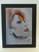 "David Bowie original Art S1 14"" x 11"" A4 Mounted Print"
