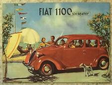 FIAT 1100L SIX SEATER Car Sales Brochure c1950 #3072
