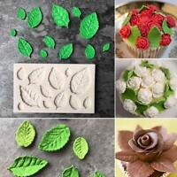 Silicone Rose Leaves Embellisment Fondant Mould Cake Decor Sugar Chocolate Mold