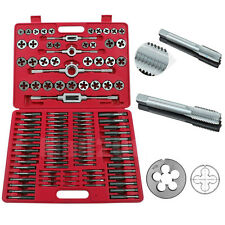 110PCS Tungsten WRENCH TAP and Die Set Cutter Kit Metric Steel Screw Bolt Case
