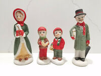 Christmas Carolers Ceramic Figurines Home Seasonal Holiday Decor Made in Taiwan