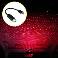 Red LED USB Atmosphere Lamp Car Interior Star Light Projector Decorative Light