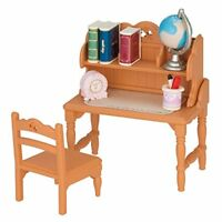 Epoch Sylvanian Families Furniture Child Study Desk Set Doll Acc From japan