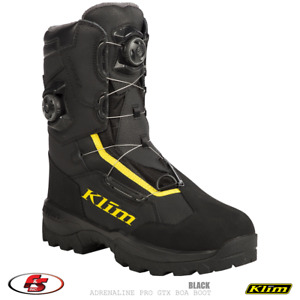 NEW KLIM Adrenaline Pro GTX BOA Boot Black Size 9 Snowmobile Motorcycle Gore-tex