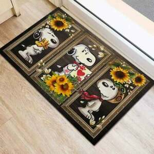 Snoopy And Sunflower US Doormat