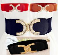 Women Ladies Wide Fashion Belt Women Black Cinch Waist Belt Elastic Stretch Gift