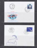 Switzerland Mi 1680/1708, 1999 issues, 5 complete sets on 5 official FDCs