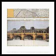 Christo the Pont Neuf Wrapped II Poster Stampa d'Arte Immagine Nella Cornice in Alluminio 50x50 cm
