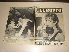 EUROPEO=1956/8=BRIGITTE BARDOT=ERIKA NEUMANN=SOPHIA LOREN LUCIA BOSE DOMINGUIN=