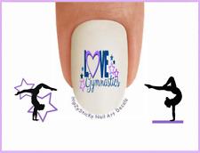 Nail Art #3082 SPORTS LOVE Gymnastics #2 Purple WaterSlide Nail Decals Transfers