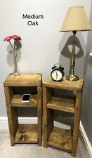 2x Bedside/Lamp Tables Chunky Rustic Pine