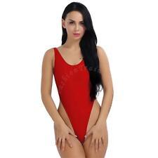Sexy Womens One Piece Swimsuit High Cut Leotard Thong Backless Bodysuit Swimwear