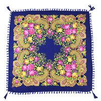 Square Cotton Bandana Folk Style Bohemia Suncreen Flower Print Scarves Shawls