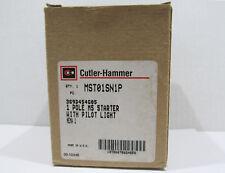 (2) NOS Cutler-Hammer Manual Motor Starter MST01SN1P 1 Pole Nema 1 Enclosure